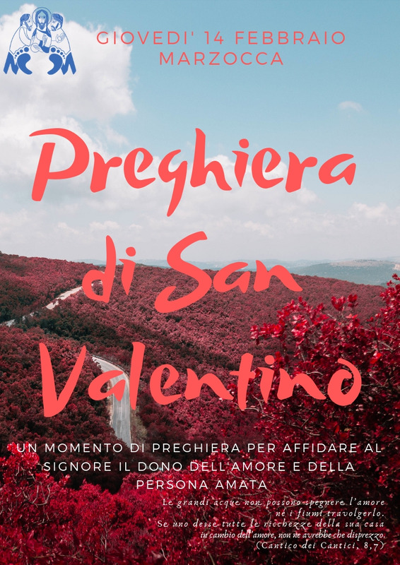 Unità Pastorale: preghiera di San Valentino per tutti gli innamorati
