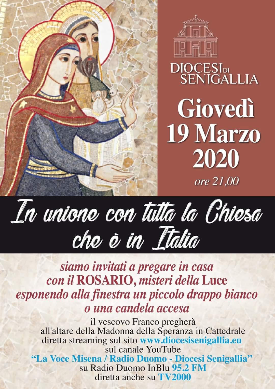 Rosario: preghiera unitaria della Chiesa italiana